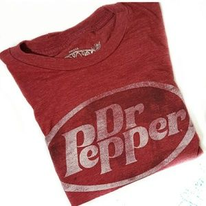 3/$30 // Distressed Red Dr. Pepper Tee
